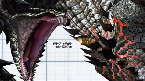 Monster Hunter Monsters Size Comparison Quality Enhanced