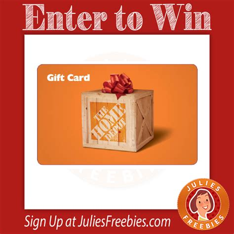 The home depot credit card is perfect for anyone who shops there frequently. Win a $2500 Home Depot Gift Card - Julie's Freebies