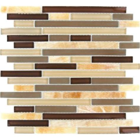 Home Depot Wall Tile Class by Ms International Honey Caramel Interlocking 12 In X 12 In