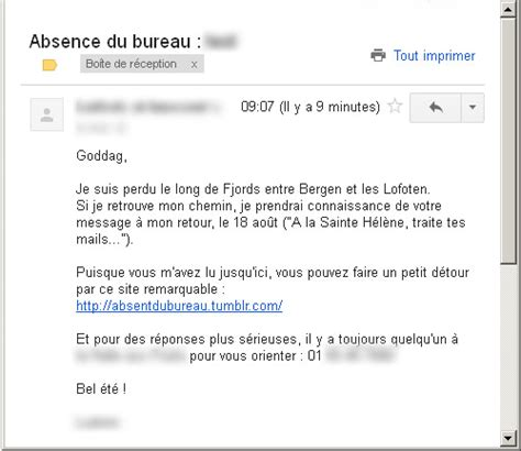 absence au bureau mail absence maladie bureau 28 images comment cr 233