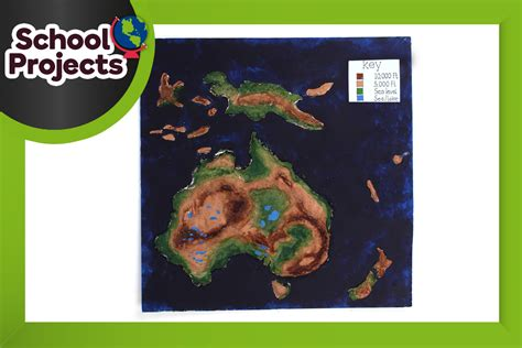 How To Make A 3d Continent Map Of Australia
