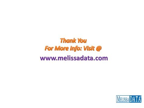 email marketing services melissa data