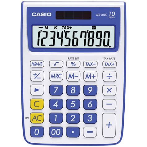 CASIO MS-10VC-BE | 10-Digit Calculator (Blue)