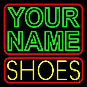 Custom Yellow Shoes Block Neon Sign