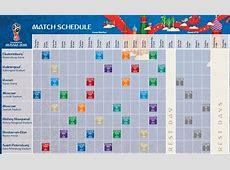 Calendario de partidos del Mundial Rusia 2018 FNT