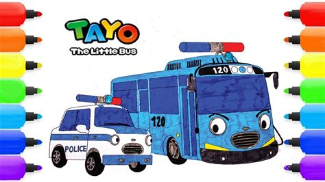 tayo   bus coloring pages pat tayo  police