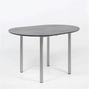 Tables Rondes Extensibles : table snack de cuisine ronde extensible en stratifi lustra 4 ~ Teatrodelosmanantiales.com Idées de Décoration