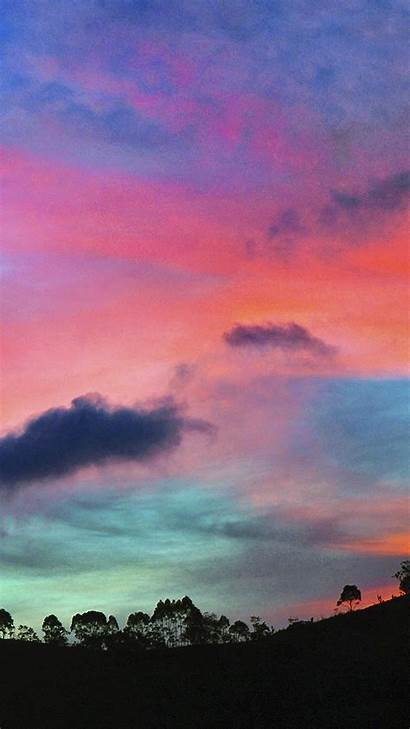 Sky Wallpapers Colorful Week Sunset Iphone Rainbow