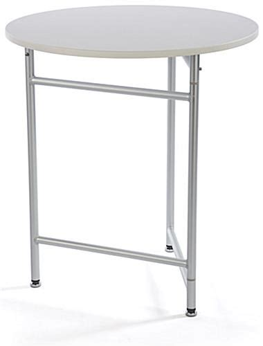 trade show round tables 30 trade show cocktail table plastic aluminum
