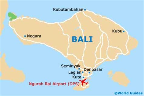 detail bali ngurah rai international airport location map
