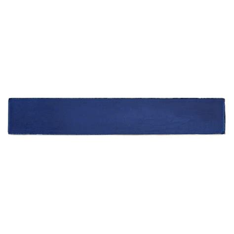 solistone painted azul blue 1 in x 6 in ceramic