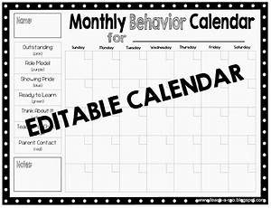 teach a roo clip charts and pbis With monthly behavior calendar template