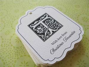 personalized gift tags monogram wedding favor by With monogram tags for wedding favors