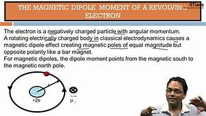 Magnetic Dipole Moment Of A Revolving Electron