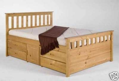 king size captains bed   drawers   storage