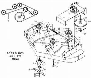 33 Land Pride Finish Mower Belt Diagram