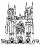 Cathedral Gothic Drawing Drawings Sketch Coloring Wiltshire Stephen Paul Peter Printablecolouringpages Larger Credit sketch template