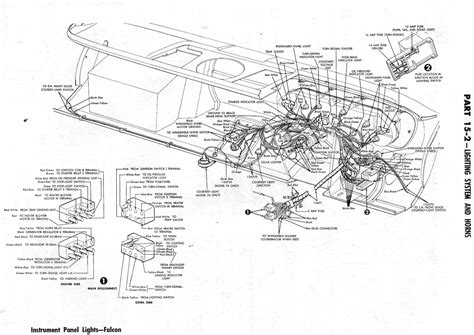 1964 Ford Falcon Wiper Wiring Diagram by Ford Falcon 1964 Lighting System And Horns Wiring Diagram