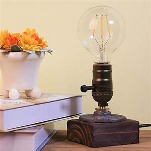 Lampe Bureau Bois : lampe de bureau en bois style industriel d coindustriel ~ Teatrodelosmanantiales.com Idées de Décoration