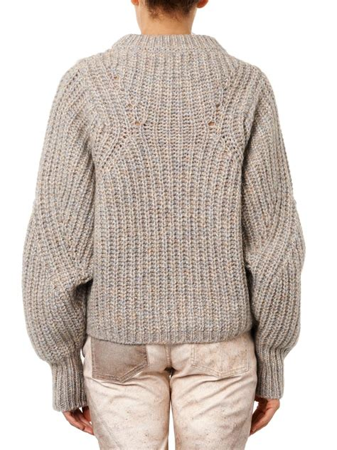 marant sweater lyst marant newt chunkyknit sweater in