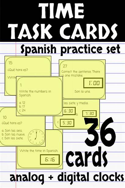 Spanish Telling Cards Learning Lesson Practice Task