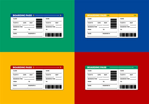 airline ticket boarding pass vector