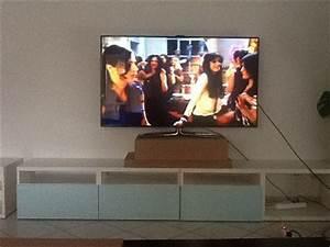 Fixer Une Télé Au Mur : hauteur d 39 un cran 55 au mur ~ Premium-room.com Idées de Décoration