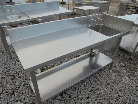 used stainless steel table with sink for sale secondhand catering equipment sinks and dishwashers