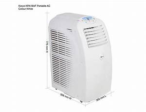 Air Fin Fan Cooler Design Koryo Koryo 1 5 Ton Portable Ac Kpa18af