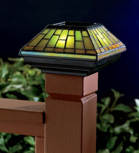 stained glass solar lights cedar mailbox post designs woodworking projects plans