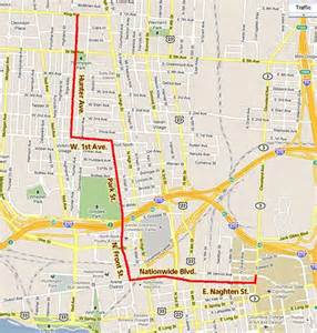 Street Map Downtown Columbus Ohio