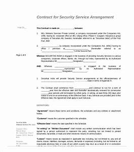 Security Guard Services Contract 6 Security Services Agreement Pdf Free Premium