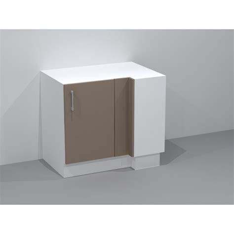 meuble cuisine bas angle meuble bas d 39 angle avec 2 étagères ouvrant droit