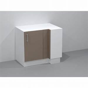 Meuble Cuisine D Angle : meuble bas d 39 angle avec 2 tag res ouvrant droit ~ Dailycaller-alerts.com Idées de Décoration