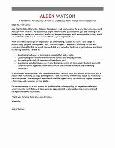 best account manager cover letter examples livecareer With cover letter for account officer