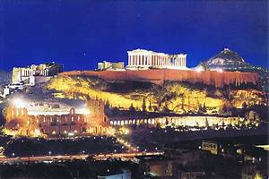 The Parthenon At Night – Athens, Greece | The Postcards Of ...