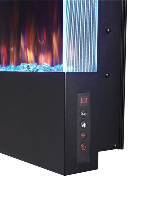 fireplace vertical electric napoleon mount wall allure inch fireplaces tweet