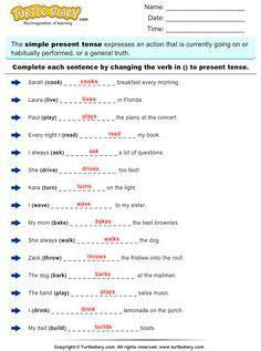 simple present tense worksheets images simple