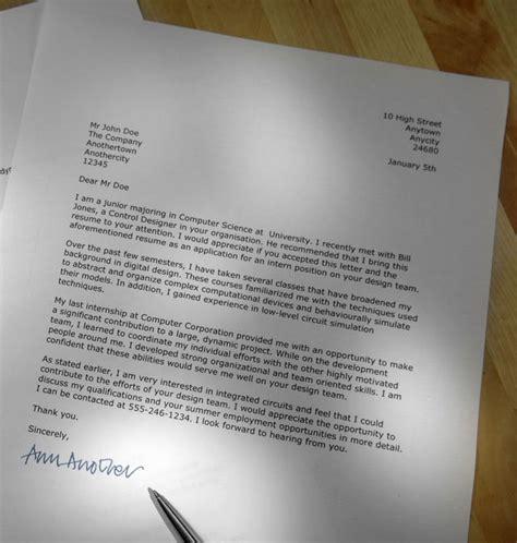 write   job application letter