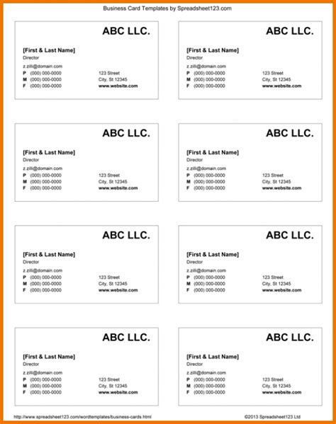 business card template on docs doc business card template business card