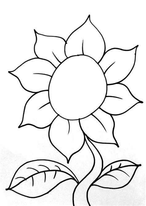 46 gambar bunga matahari untuk diwarnai paling bagus