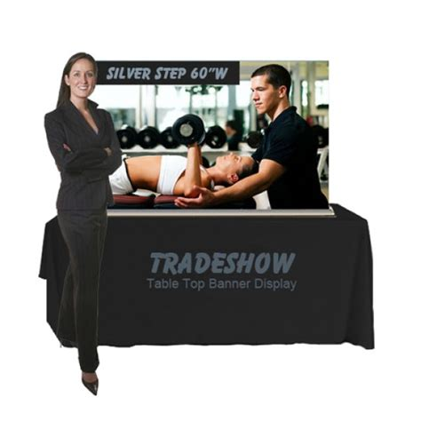retractable tabletop banner stand ft anythingdisplay