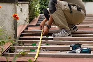Comment Poser Des Dalles En Bois Sur Une Pelouse : poser une terrasse en bois entretenez et embellissez ~ Dailycaller-alerts.com Idées de Décoration