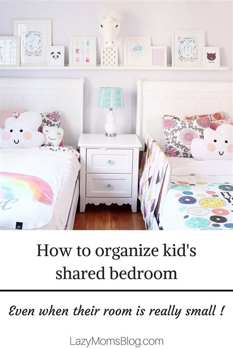 How To Organize Bedroom by How To Organize Kid S Shared Bedroom Lazy S