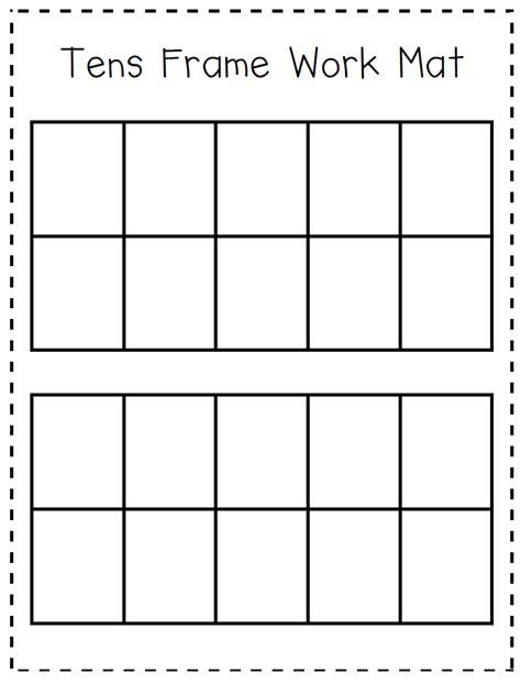 ten frame worksheets kindergarten kindergarten at