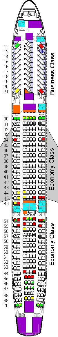 Cathay Pacific A340 seating plan A340 seating chart