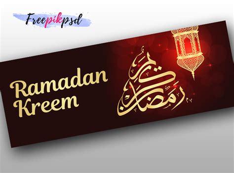 ramadan kareem facebook cover template clipart vectors
