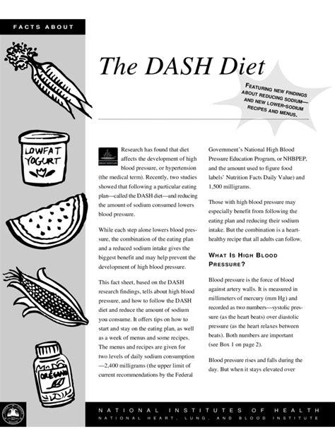 high blood pressure diet chart   templates