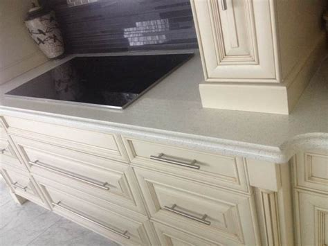 kitchen island with raised bar quartz ogee edge