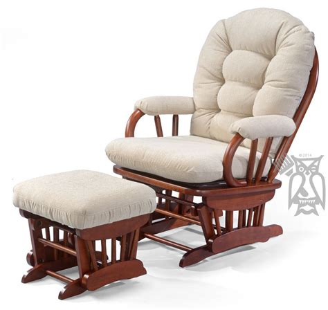 rocking chair and ottoman hoot judkins bedazzle glider rocking chair and ottoman set